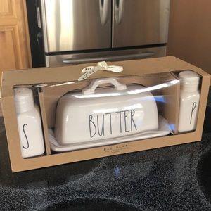 Rae Dunn Butter Salt Pepper gift set
